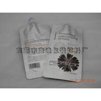 供应四边封吸嘴铝箔袋 焗油膏电发水染烫发剂包装