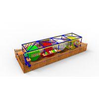 供应哈皮 淘气堡闯关项目 儿童拓展高空训练项目 儿童体能训练 彩虹网 木质 海绵EPE