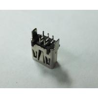 MINI USB 母座5P 180度 DIP 立式插板alt/迷你USB连接器优质供应