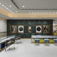 深圳玉器展示柜订做,不锈钢珠宝展示柜制作,华信高档烤漆珠宝展柜批发工厂