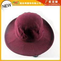 春夏季自然休闲旅游遮阳帽 时尚宽边大头围男士帽子渔夫帽盆帽