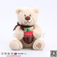 抱抱熊熊仔 新款外贸毛绒玩具 20cm小熊定做 源康毛绒玩具