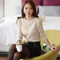 6306_B#衬衣 女长袖秋冬新款加厚韩版女装修身加绒打底衫上衣潮