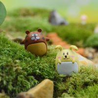 植宠 微景观摆件批发 迷你可爱情侣虎兔 苔藓多肉生态瓶造景配件