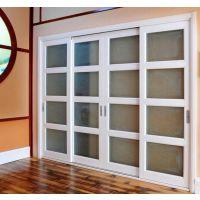 生产批发原木玻璃门实木推拉门玻璃门楼梯木线橱柜门衣柜门等