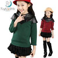 女童秋装2014新款冬装儿童长袖t恤加厚加绒打底衫女大童上衣