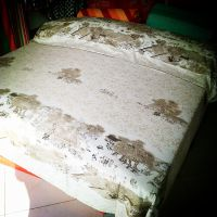 纯棉老粗布床上用品四件套清明上河图印花粗布套装新款厂家直销