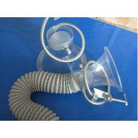 赛姆斯透明喇叭口径230mm焊锡喇叭罩排风喇叭罩焊锡烟雾喇叭罩集烟罩透明吸烟罩抽烟罩