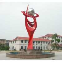 校园雕塑 抽象 不锈钢 石雕 河北坤龙雕塑专业制作
