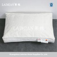 广州莱棉星级酒店客房羽绒枕 高端白色全棉枕芯荷叶式 鹅绒+蚕丝枕芯