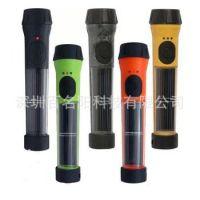 户外防水太阳能手电筒高亮0.5W聚光手电筒单灯太阳能手电筒