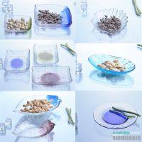 精致点心碟玻璃盘水晶零食盘醋碟酱碟家居装饰盘子碟子 出口创意