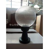 中山市园光厂家直销PMMA条纺透明圆球灯罩