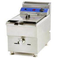 特价HX-84落地式单缸双筛电炸炉 立式电油炸锅 西式快餐油炸设备