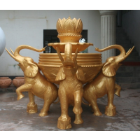 天目逆源 供应 玻璃钢小象砂岩雕塑 动物大象砂岩雕塑厂家