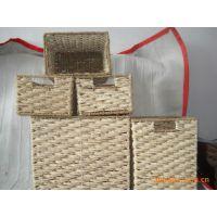 供应纯手工编织工艺品 储物篮收纳柜