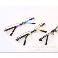 专业供应金属6157 欧帕防辐射半框眼镜 电脑护目镜平光镜 防蓝光