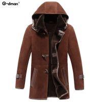 特价2015年男装猎装复古皮毛一体长连帽皮克服皮草男士夹克外套