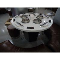扬韬家具 不锈钢餐桌 火锅桌 大理石餐桌 餐厅玻璃桌子