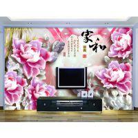 鹤壁市浮雕白牡丹玉雕电背景墙 牡丹3D玉雕
