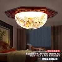 景德镇陶瓷吸顶灯 中式客厅灯饰吸顶灯 家居灯饰卧室餐厅灯具批发