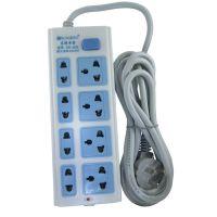 厂家直销 8位3米826三极接线板大功率电源插座 特价便宜质量保证