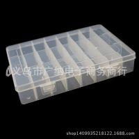 厂家批发小24格PP透明塑料散珠DIY配件皮圈药物电子元件收纳盒