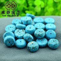 优化绿松石 算盘珠 隔珠 藏式念珠隔片 新疆白松石
