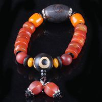 天然老玛瑙藏式天珠佛珠手串精品缠丝玛瑙天珠款款精致大气