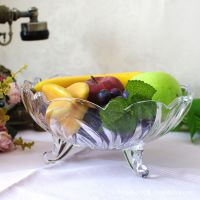 欧式水晶玻璃果斗果盘果盆玻璃盘玻璃器皿婚庆