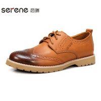 Serene/西瑞流行男鞋brogue布洛克男士鞋英伦男鞋韩版皮鞋男6185