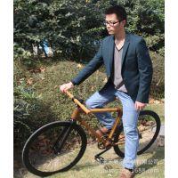 竹制塑钢折叠山地变速双碟刹骑行装备自行车复古死飞单车厂家批发