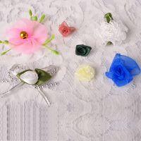 现货直销花朵饰品配件 手工雪纺布花 儿童头花 免费拿样
