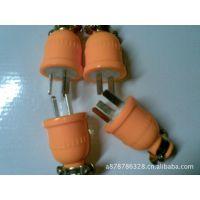 揭阳棉湖电器供应 黄色 软胶插头 阻燃二插头 防水插头