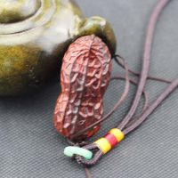 厂家直销印度小叶紫檀落地生财手把件 精雕花生挂件挂饰 创意礼品