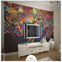 欧式墙贴 大型壁画 沙发背景墙墙纸壁纸 餐厅 床头背景 抽象美女