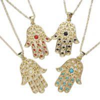 速卖通外贸货源 厂家直销批发 hamsa necklace 法蒂玛之手掌项链