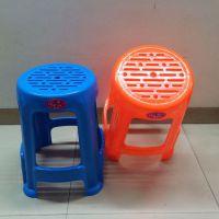 工厂价直销中号贵族通透方凳换鞋凳方塑料凳子板凳椅子加厚方块