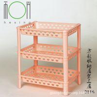工厂直销方形组合收纳层架 热销浴室厨房置物架 多功能整理储物架