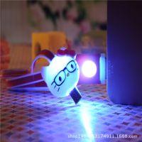 新款卡通数据线 七彩LED发光卡通数据线  安卓智能机发光线