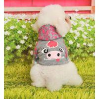 厂家直销 狗狗卡通动物衣服 宠物卡通图案衣服 宠物保暖衣服秋冬款 可做代加工