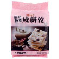 香港产 美味栈新口味 葡萄燕麦咸饼干 健康营养400gX12袋/箱 批发