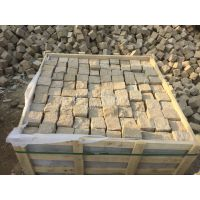 昊磊石材供应各种颜色砂岩小块石,六方石,全自然面,出口日本标准,有库存