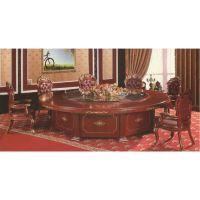 实木家具餐桌酒店桌电动圆桌自动圆桌实木大圆台