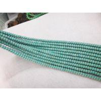批发供应 绿松石车轮珠 4*8MM绿松石隔珠 叠珠 DIY饰品配件杂件