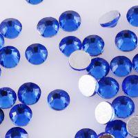 宝蓝中东玻璃平底仿奥国贸A钻 DIY美甲发饰材料包规格颜色齐全