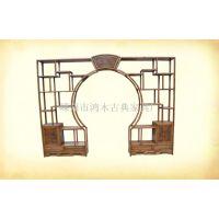 仿古中式古典家具/实木家具/月洞门博古架