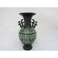 洛阳广发青铜器、凤纹双鸟瓶、工艺品摆件 厂家可定制 零售
