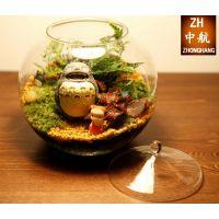 批发大号玻璃景观瓶 生态多肉微景观玻璃圆球玻璃水培景观瓶