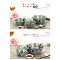 厂家直销 咖啡白A5仿瓷碗中式塑料小碗四方碗密胺餐具汤碗